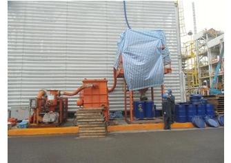 基礎油廠HRU#2定檢觸媒卸裝工程
